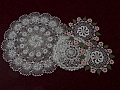 Irish crochet doilies