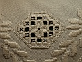 Detail of the Hardanger cushion
